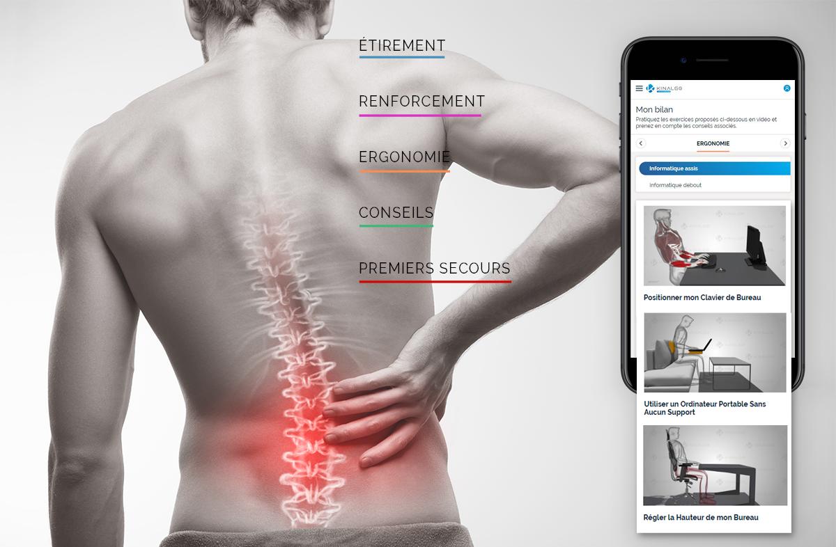 Kinalgo Corporate Réduisez vos risques de TMS (Troubles Musculo-Squelettiques)